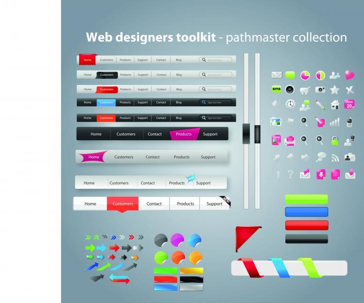 free vector Practical web design kit 08 vector