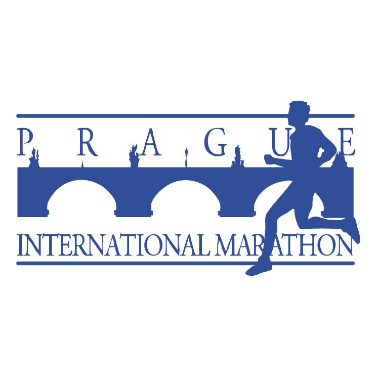 free vector Prague international marathon