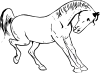free vector Prancing Horse Outline clip art