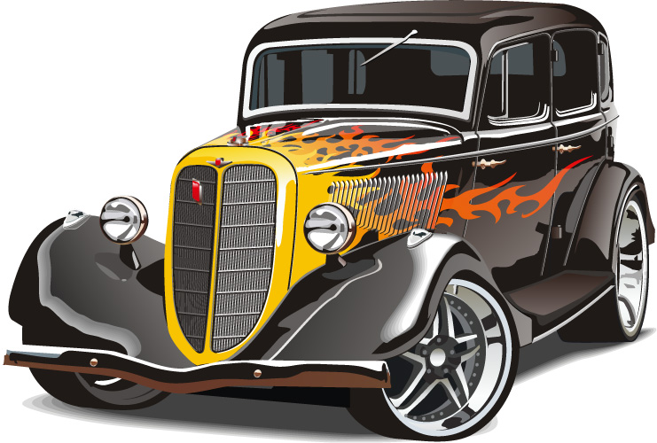 graphics for classic car free vector graphics