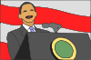 free vector President Giving Speech clip art