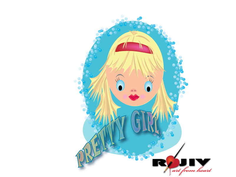 free vector Pretty Girl Vector