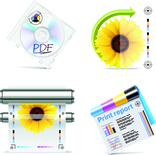 free vector Printer icon vector related elements