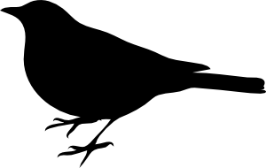 free vector Profile Of A Bird clip art