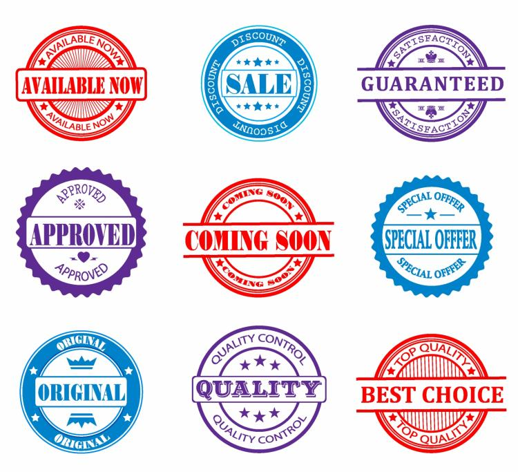 free vector Promotional sales design elements