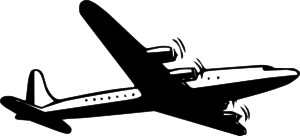 free vector Propellor Airliner  clip art