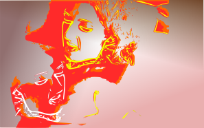 free vector Psychotic Portrait clip art