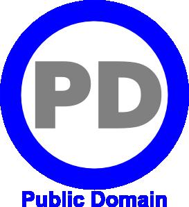 free vector Public Domain Icon Blue clip art