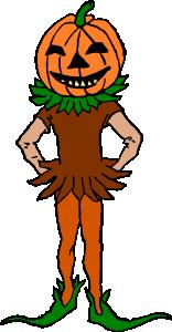 free vector Pumpkin Boy Color Version clip art