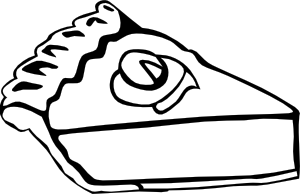 free vector Pumpkin Pie (b And W) clip art