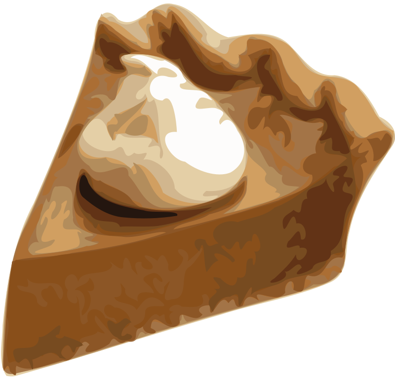 free vector Pumpkin Pie Slice