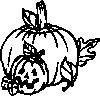 free vector Pumpkins Black And White clip art