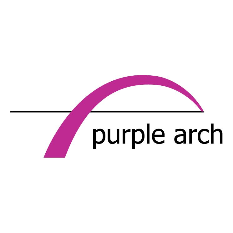 free vector Purple arch