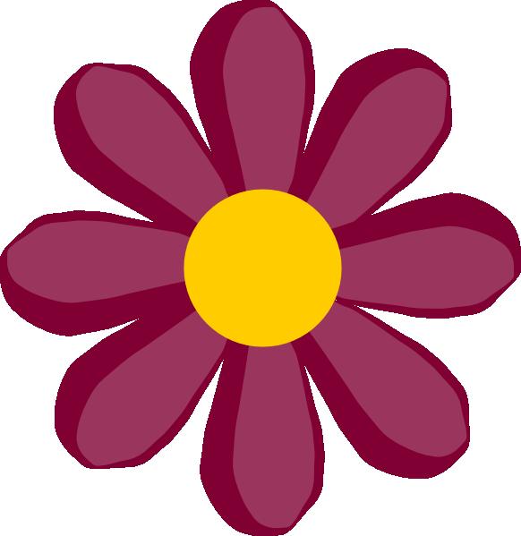 free vector Purple Flower clip art