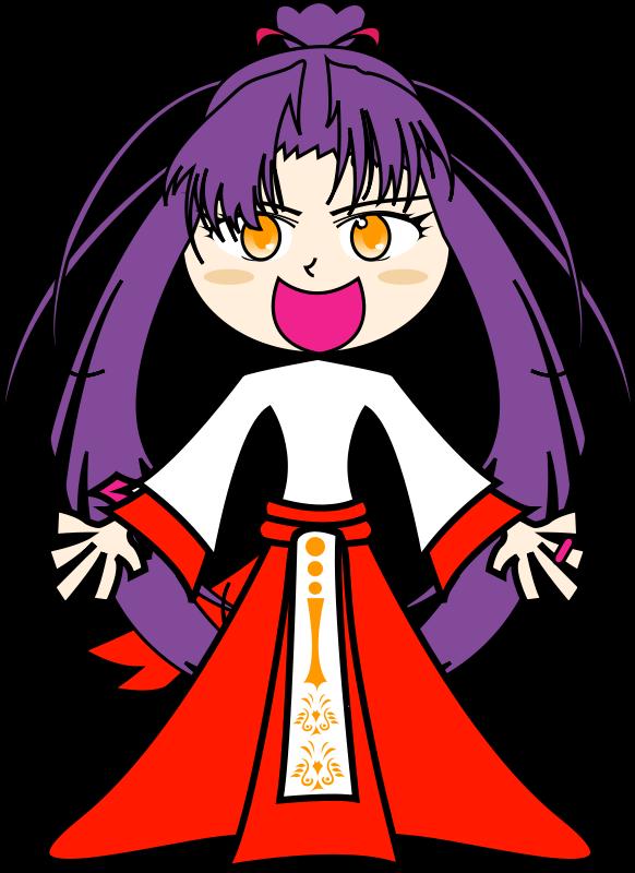 free vector Purple girl