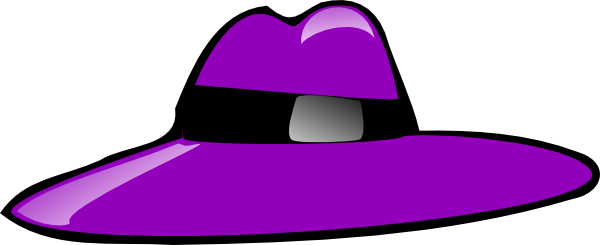 free vector Purple Hat clip art