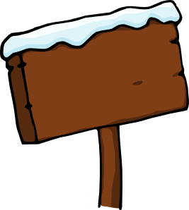 free vector Purzen Snowy Signboard clip art