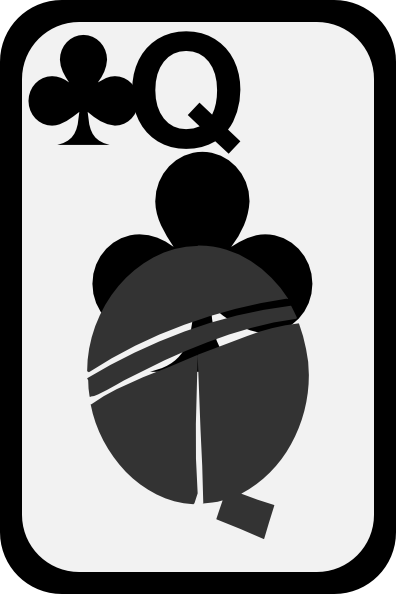 free vector Queen Of Clubs clip art