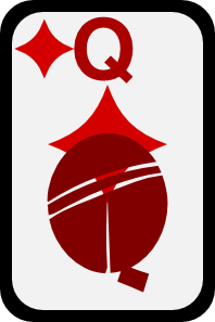 free vector Queen Of Diamonds clip art