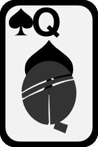 free vector Queen Of Spades clip art
