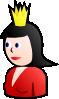 free vector Queen On Card clip art