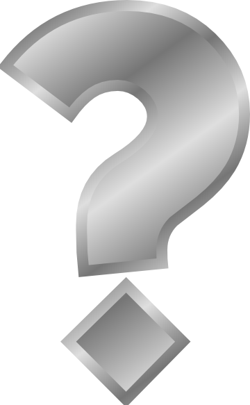 free vector Question Mark Silver clip art