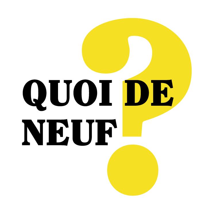 free vector Quoi de neuf