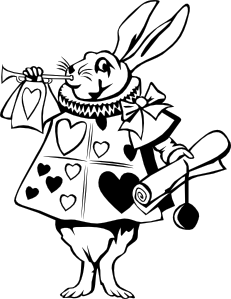 free vector Rabbit From Alice In Wonderland clip art