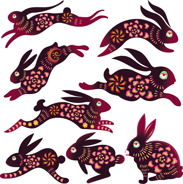 free vector Rabbits and other animals vector