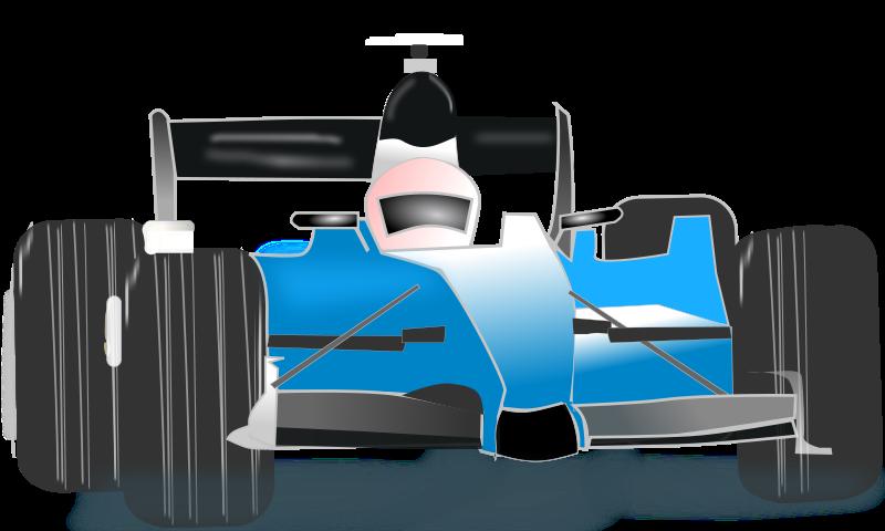 free vector Race car blue