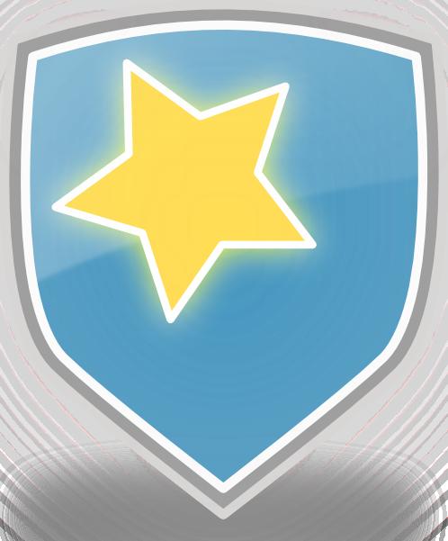 free vector Rachaelanaya Blue Shield Star Icon clip art