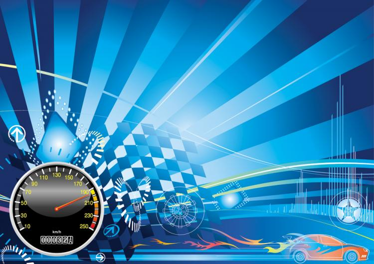 Racing Theme Background Pattern 01 Vector Free Vector