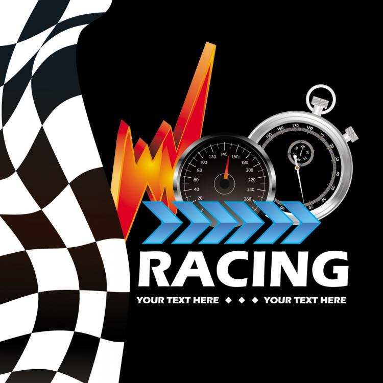 free vector Racing theme background pattern 05 vector
