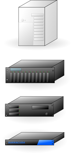 free vector Rack Mount Thick Tower Servers X86 clip art