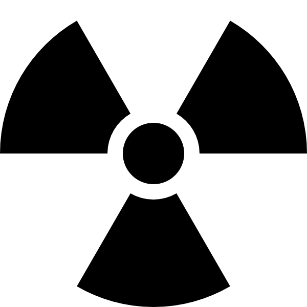 free vector Radioactivity Sign clip art