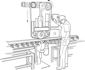 free vector Rail Polishing Machine clip art