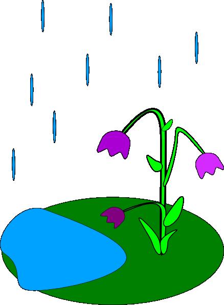 free vector Rain Flowers clip art