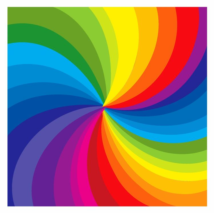 free vector Rainbow burst