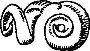 free vector Ram Horns clip art