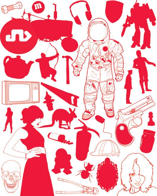 free vector  Random Objects 14495
