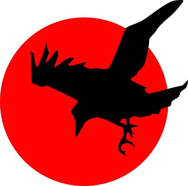free vector Raven On Red clip art