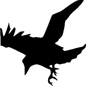 free vector Raven Silhouette clip art