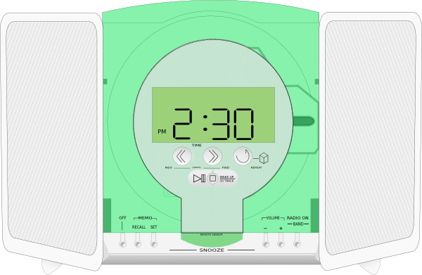 free vector Rca Stereo Cd Player clip art
