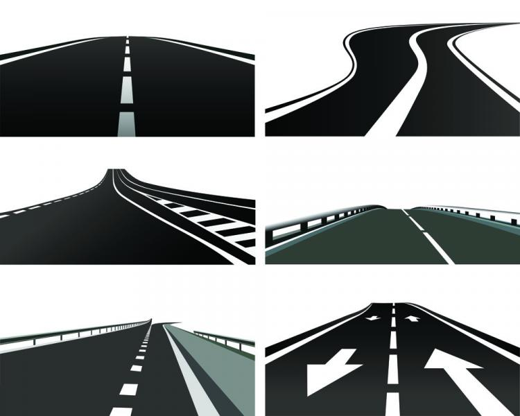 free vector Realistic highway 01 vector