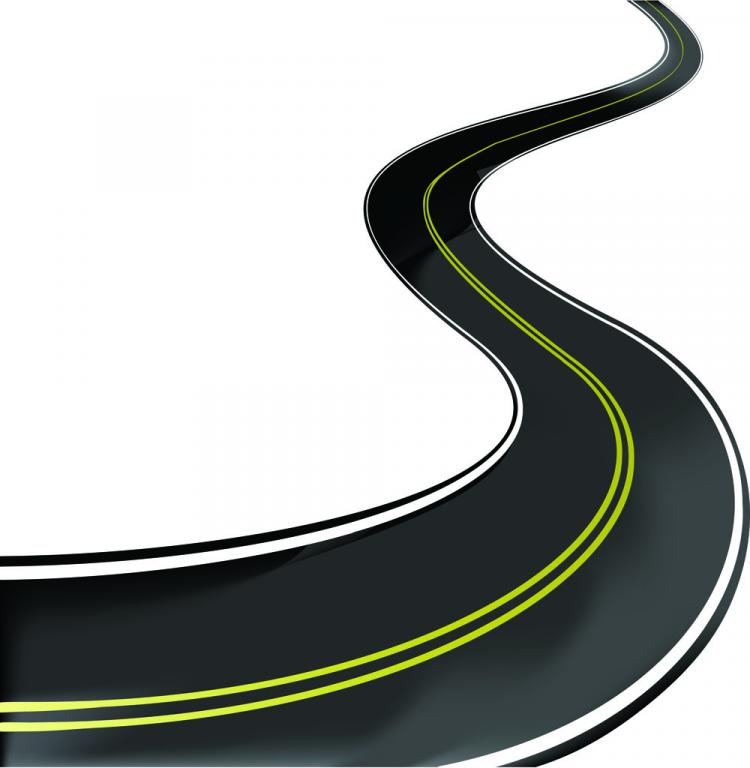 free vector Realistic highway 02 vector