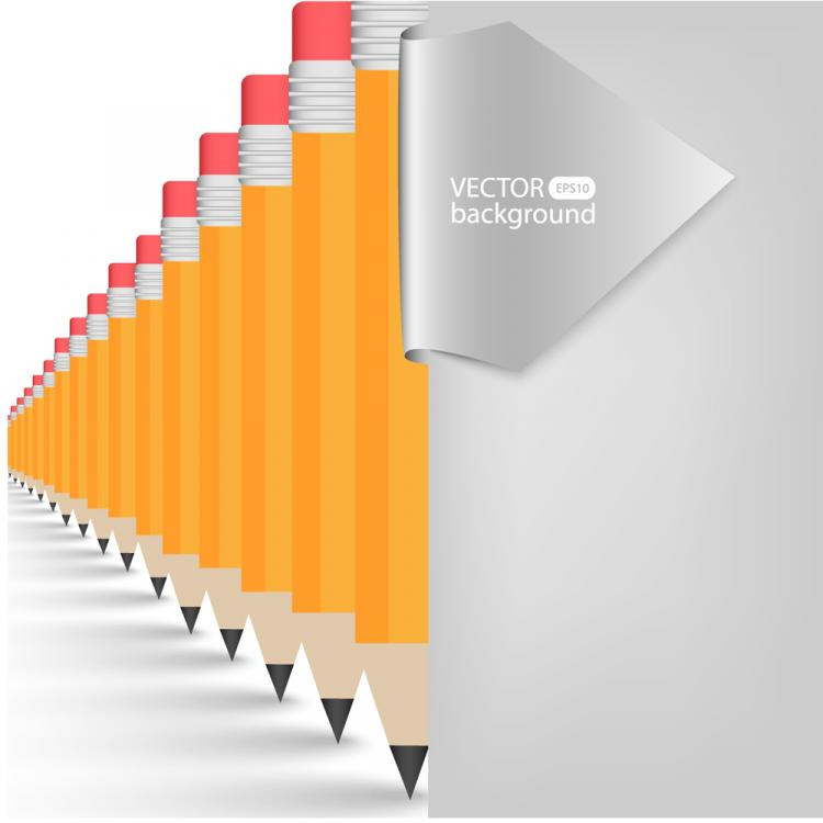 free vector Realistic learning stationery 01 vector