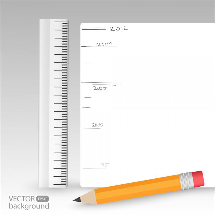 free vector Realistic learning stationery 041 vector
