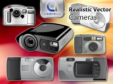 free vector Realistic Vector Cameras