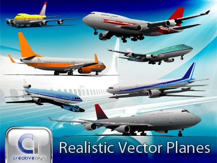 free vector Realistic Vector Planes