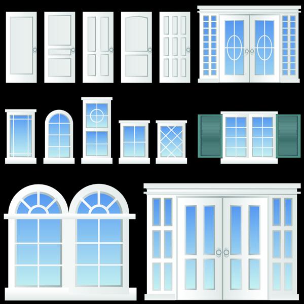 Realistic windows and doors vector free vector 4vector for Your home windows and doors